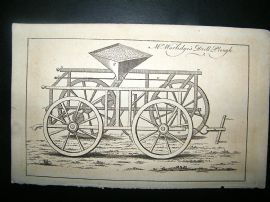 Agriculture: C1770 Worlidges Drill Plough Print.